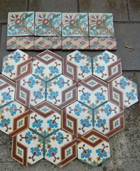 Antike Bodenfliesen Model Jugendstil Keramik Muster Fliesen